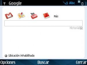 Aplicaciones Google en Symbian